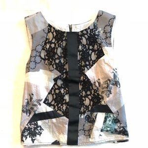 TOPSHOP Lace Design Top